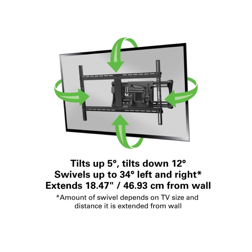Sanus Accents Alf218 Full Motion Wall Mounts Mounts