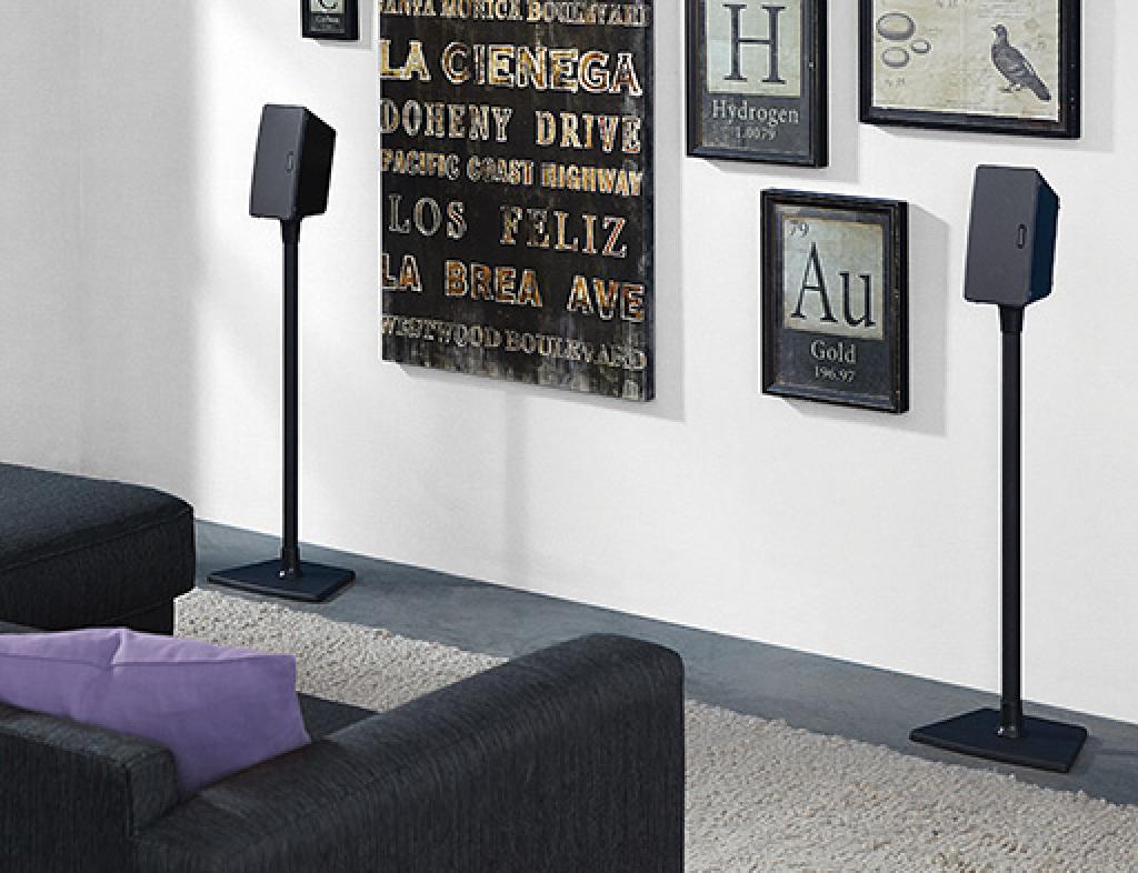 sanus accents awss2 wireless series speaker stands speaker stands products sanus accents - Sanus Speaker Stands